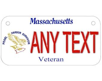 CUSTOM MASSACHUSETTS License Plate