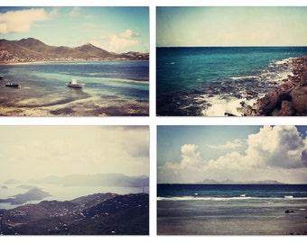 beach photography , caribbean decor, blue home decor, ocean photograph, caribbean photograph,  cottage decor, beach collection