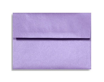 A7 Envelopes - Pearl Metallic (Amethyst) Lilac Purple Lavender with Square Flap FREE SHIPPING