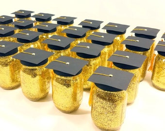 Graduation Centerpiece, Graduation Party Decorations, Graduation Caps, High School Graduation Party, Mason Jar Centerpieces, Set of 6