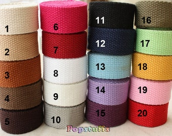 5 yards Cotton Heavy Canvas Webbing in 32mm width for Hangbag - CW02-32