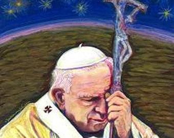 Saint John Paul II - John Paul the Great - Catholic Art Print in Choice of Sizes