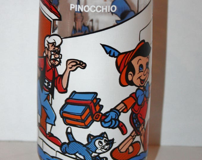 Wonderful World of Disney PINOCCHIO Pepsi Collector Series Glass 1982