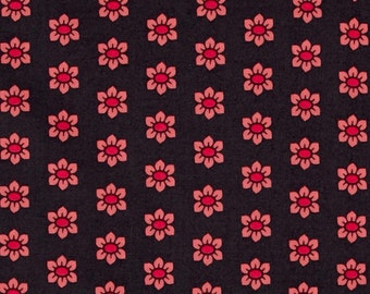 15070- Anna Maria Horner Mod Corsage Stamped in Coral - 1 /2 yard