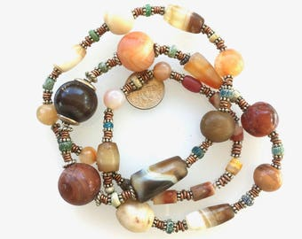 Indus Valley 400 yr Old Beads Necklace