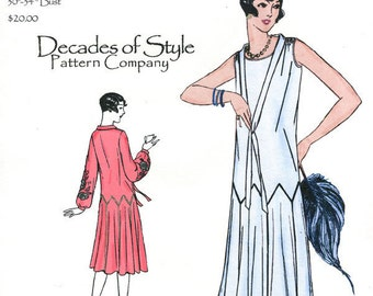 Zig Zag Dress 1925 Decades of Style Vintage Style Sewing Pattern
