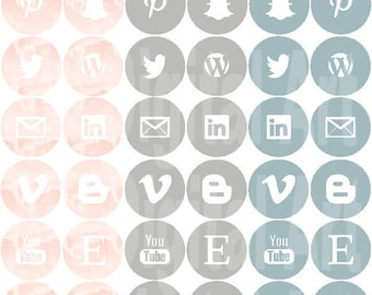 INSTANT DOWNLOAD - Social Media Icons - Neo Neutral Palette