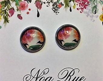 Oriental Garden 10mm Stud Earrings