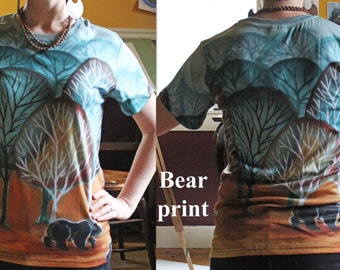 All-Over Print of an Original Oil Painting on a T-Shirt