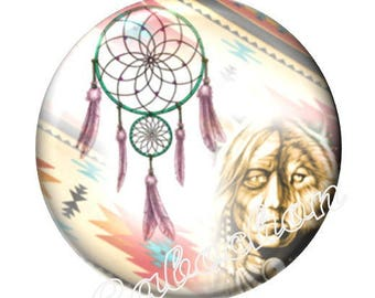 1 cabochon 30 mm glass, dreamcatcher dream catcher Native American