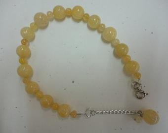 Yellow Glass Beaded Bracelet