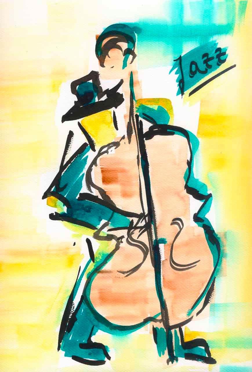 jazz wall art print decor poster painting art for living
