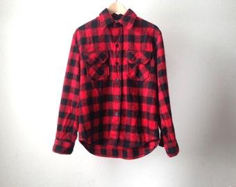 MOYEN extérieure de style vintage hommes PLAID mackinaw rouge classique de style des années 50 60 s veste