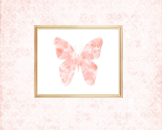 Blush Butterfly Print,  8x10, 4 colors