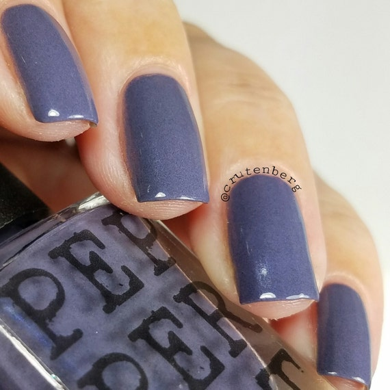 Blue Gray Nail Polish Indie Nail Polish Dark & Stormy Gift For