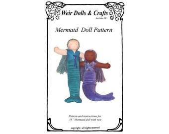 Waldorf Mermaid Doll Pattern