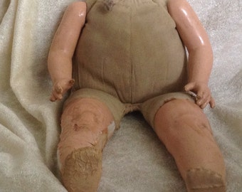 Very Vintage Cloth Compo Doll Body 1920's