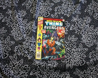 Marvel Two In One #75. The Thing And The Avengers Vintage 1981 Bronze Age Comic Book. Rare Fantastic Four Avengers Two In One