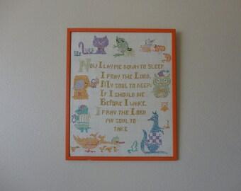 VINTAGE animal themed nursery CROSS STITCH