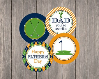 "Father's Day Golf 2"" Party Circles 