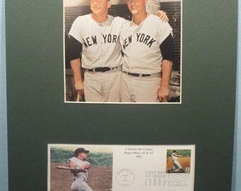 New York Yankee Greats Roger Maris & Mickey Mantle and the First Day Cover of the Roger Maris stamp