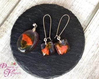 Set Flowers Orange-resin/flower sets Orange-colored