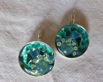 sleeper earrings Millefiori