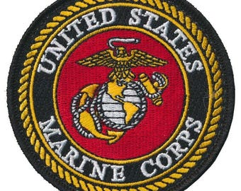 United states marine corps embroidered patch