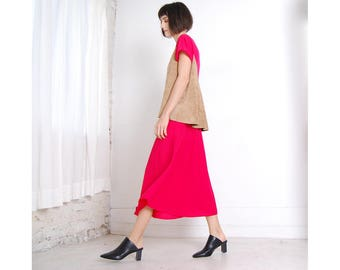 simple red 70s/80s dress