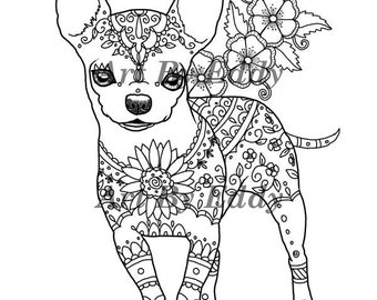 chihuahua coloring pages online - photo#1