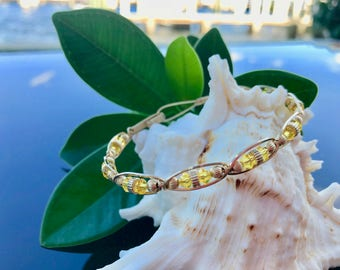 Sunshine Swarovski Crystal 14kt Gold-Filled Hand Sculpted Bracelet