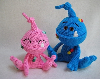 Spot The Monster Amigurumi Crochet Pattern PDF DIY Animal Alien Toy Baby Gift