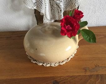 Vintage sandstone Waermflasche Ceramic bottle Dekoflasche 50