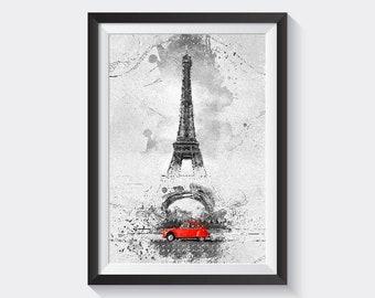 Paris France, Eiffel tower, Citroën