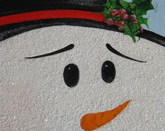 Frosty the Snowman, Painting, Acrylic painting, Christmas picture, ZindysZen, Holiday painting, snowman,