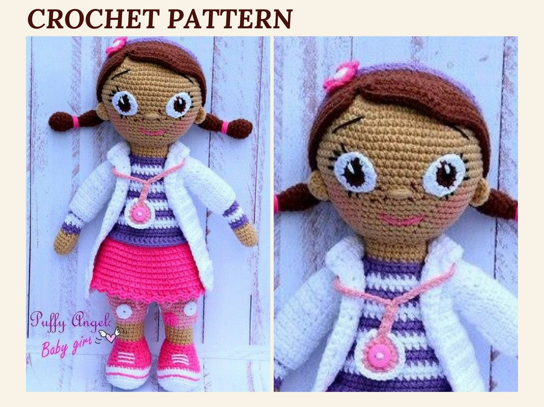 Crochet Pattern Doll : Crochet doll pattern doc mcstuffins doll pattern amigurumi doll