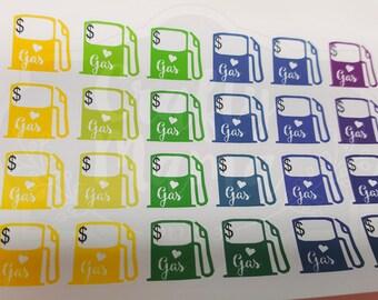Gas Pump Stickers! Great for Erin Condren, FiloFax, Kikki.K, or Plum Paper Planners