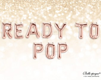 READY TO POP balloons | Rose Gold Balloons | Gold Silver Balloons | Party Balloons | Letter | Custom Letters | Baby  Shower | Gender Reveal