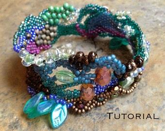 Peacock Spring Freeform Peyote Bracelet Design Notes & PDF Tutorial