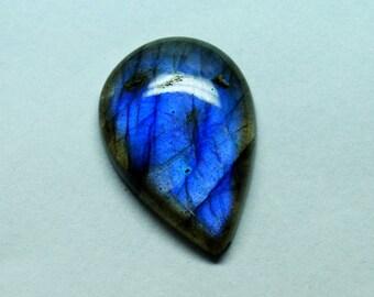 60% OFF - 24x16x5 mm Pear Labradorite Cabochon - Loose Cabochons Labradorite Gemstone - Pear Shape Gemstone  (Z-77)