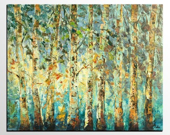 Oil Painting Original, Landscape Art, Autumn Tree Painting, Large Abstract Art, Canvas Painting, Modern Art, Canvas Art, Abstract Painting