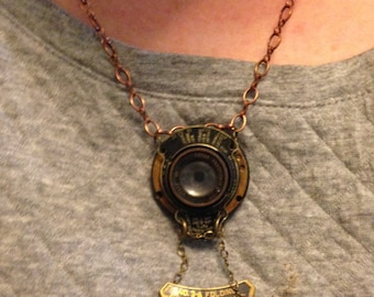 Handmade Necklace/Vintage parts from Kodak Camera