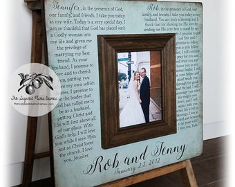Anniversary Gifts For Men, Wedding Vows Picture Frame, 16x16 The Sugared Plums Frames