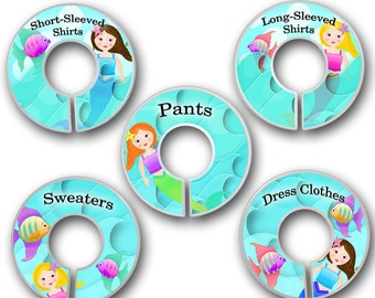 CLOSET DIVIDERS Mermiad Bedroom and Baby Nursery Art Decor CD0059