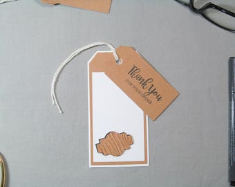 Business Thank You Tags - Small Business Tags - Wood Sign Tags - Handmade Seller Tags - Wood Sign Thank You Tags – Handmade Business Tags