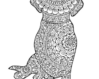 Dogs 3 Adult Coloring Pages: Instant Digital Download