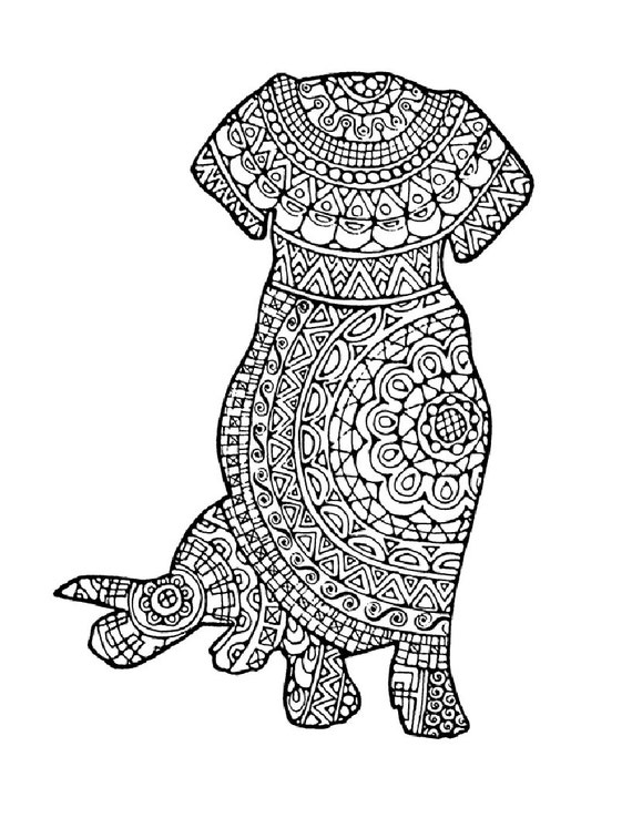 It's just a graphic of Peaceful Adult Coloring Page Dog