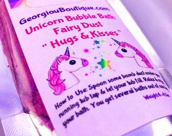 Unicorn dust/Unicorn bubble bath dust/fairy dust/unicorn bubble bath/4-5oz/bubble bar/unicorn bubble bar
