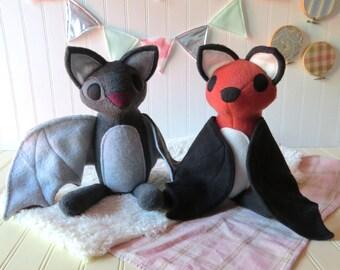 Bat Plush Pattern, Flying Fox Pattern, Sewing Pattern, PDF Pattern, DIY Plush, Instant Download Sewing Pattern, Stuffed Animal Pattern