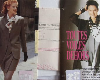pattern sewing PASSION REF. 17 - suit jacket and flowing tunic wrap skirt